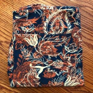 lularoe paisley pattern leggings - size TC